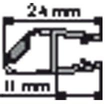 Huppe Divers magneetlijst rechts v. glas 8mm - 70035