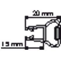 Huppe Divers magneetstrip lengte 1932mm v. glas 5mm - 70037