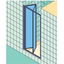 Kermi Ibiza-2000 vouwdeur voor nis of zijwand - I2FTD090181AK