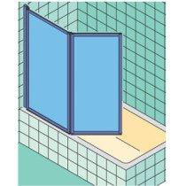 Kermi Vario-2000 badklapwand 2-delig - V2FW2060141AK