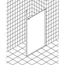 Kermi Walk-in XS douchewand Wall rechts m. plafondsteun 120x200cm glanszilver/helder rechts m. KermiClean (antikalk) - XSWD312020VPK