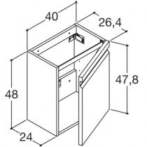 Dansani Zaro wastafelonderbouwkast m. 1 deur - K10142
