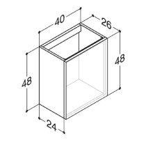 Dansani Luna wastafelonderbouwkast -48cm- v. wastafel Micro Menuet - N01281