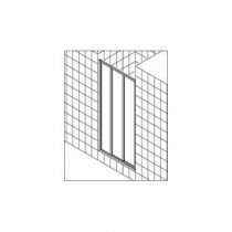 Kermi Ibiza-2000 schuifdeur 3-delig m. vast segment - I2ST3080181AK