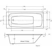 Plieger Kreta hoekbad acryl kwartrond 135x135x43cm m. poten wit 11002020108101 - 940904