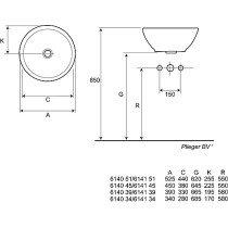 Duravit Vero wastafel 60x47cm 60x47cm wit m. kraangat - 454600000