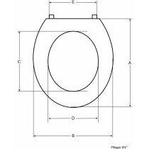 Pressalit Objecta closetzitting met deksel - 54011BA1999