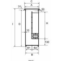 Jaga vloerput zonder isolatie per meter 660x 410mm - 7501066041