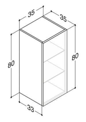 Dansani Luna lage kast -80cm- m. 1 deur champagne - N101941