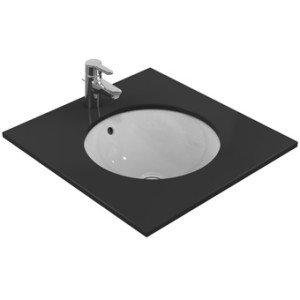 Ideal Standard Connect onderbouwwastafel rond rond 48cm z. kraangat - E505401