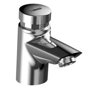 Hansa Hansapolo Public 1-gats wastafelkraan zelfsluitend v. koudwater - 51472211