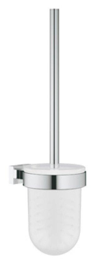 Grohe Essentials Cube closetborstelgarnituur m. glazen inzet  chroom - 40513001