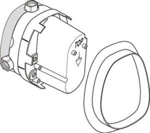 Ideal Standard CeraTherm Universeel inbouwset voor centraal thermostaat 1/2 - A2354NU
