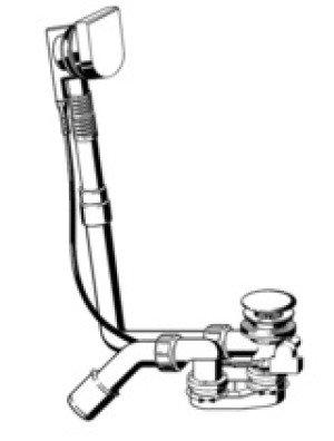 Viega Multiplex Multiplex Visign-M9 badafvoer en overloopcombinatie 40/50x725mm chroom - 733582