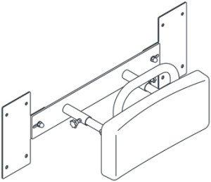 Handicare Linido rugleuning t.b.v. inbouwreservoir - LI2705200402