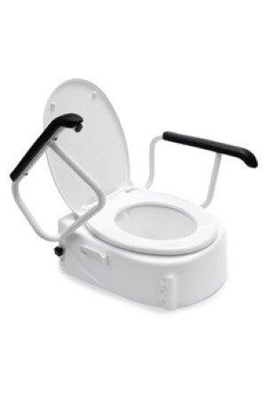 Handicare Linido toiletverhoger m. armleggers en deksel - 10659