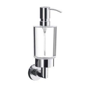 Emco Eposa zeepdispenser helder glas m. pomp=metaal - 82100100