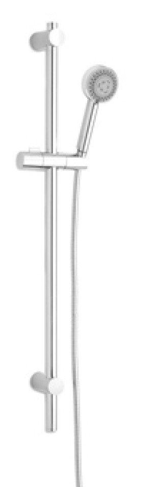 Plieger Fresh glijstangset verstelbaar m. 2 st. handdouche 75mm 75cm chroom - 670044