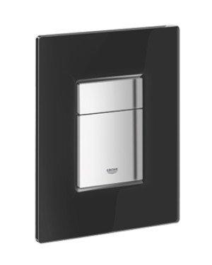 Grohe Skate Cosmopolitan WC bedieningsplaat glas DF zwart - 38845KS0