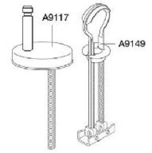 Pressalit Sway D uni scharnier m. kantelbevestiging  RVS - DE3999