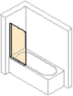 Huppe 501 Design Pure badklapwand 1-delig - 512401087321