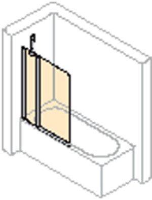 Huppe 501 Design Pure badklapwand 2-delig - 512501087321